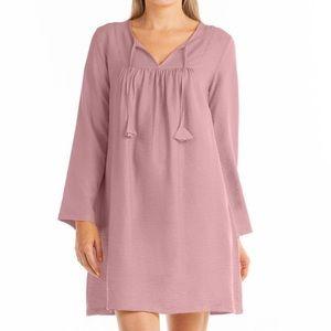 FRESH PRODUCE 2X White $79 Mosaic MARISSA Key Hole Jersey Cotton Dress NWT New